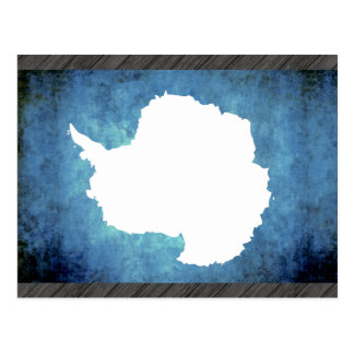 Colorful Contrast Antartican Flag Postcard