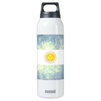 Colorful Contrast Argentinean Flag 16 Oz Insulated SIGG Thermos Water Bottle