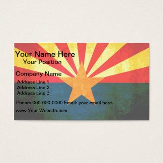 Colorful Contrast Arizonan Flag Business Card