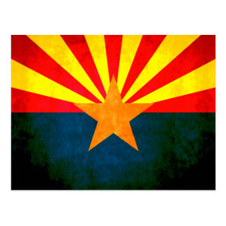 Colorful Contrast Arizonan Flag Postcard