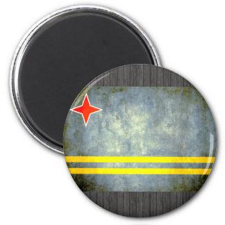 Colorful Contrast Aruban Flag Refrigerator Magnet
