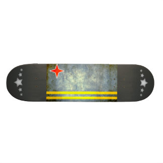Colorful Contrast Aruban Flag Skate Decks