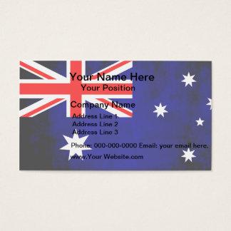 Colorful Contrast Australian Flag Business Card
