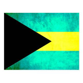 Colorful Contrast Bahamian Flag Postcard