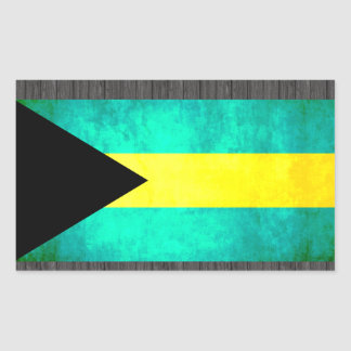 Colorful Contrast Bahamian Flag Rectangular Sticker