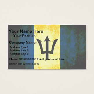 Colorful Contrast Barbadian Flag Business Card