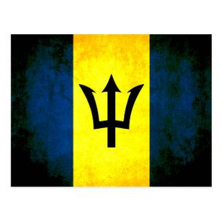 Colorful Contrast Barbadian Flag Postcard