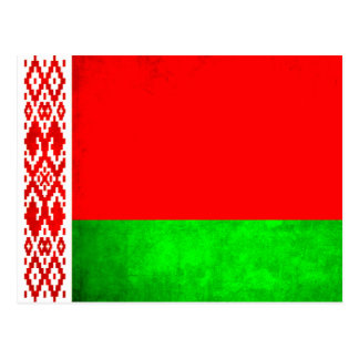 Colorful Contrast Belarusian Flag Postcard