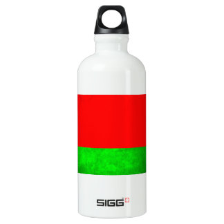 Colorful Contrast Belarusian Flag Water Bottle