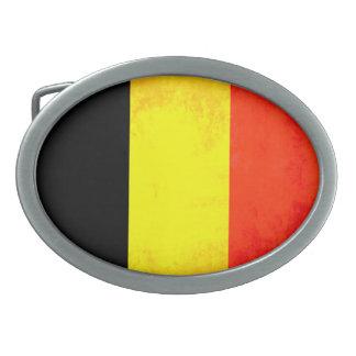 Colorful Contrast Belgian Flag Oval Belt Buckles