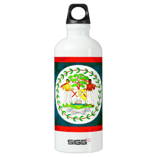 Colorful Contrast Belizean Flag Aluminum Water Bottle