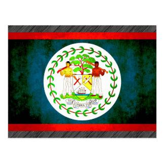 Colorful Contrast Belizean Flag Postcard