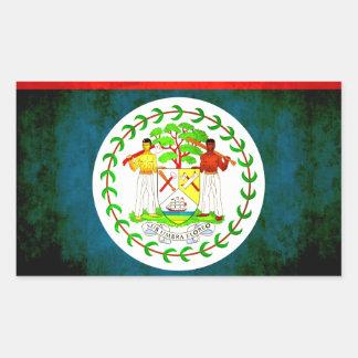 Colorful Contrast Belizean Flag Rectangular Sticker
