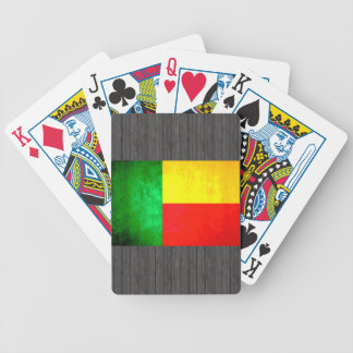 Colorful Contrast Beninese Flag Bicycle Playing Cards