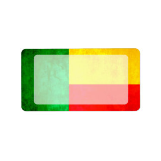 Colorful Contrast Beninese Flag Label