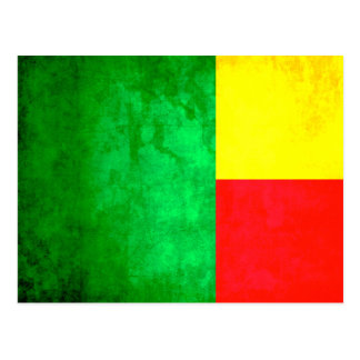 Colorful Contrast Beninese Flag Postcard