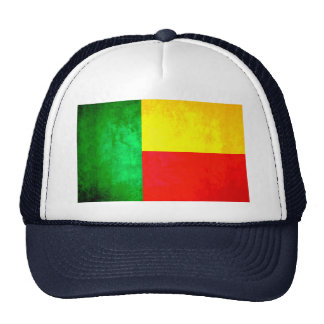 Colorful Contrast Beninese Flag Trucker Hat
