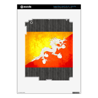 Colorful Contrast Bhutanese Flag iPad 3 Skin