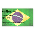 Colorful Contrast Brazilian Flag Business Cards