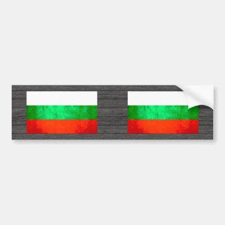 Colorful Contrast Bulgarian Flag Car Bumper Sticker