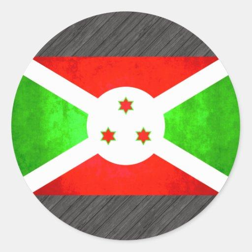 Colorful Contrast Burundian Flag Sticker