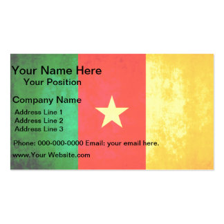 Colorful Contrast Cameroonian Flag Business Card Template