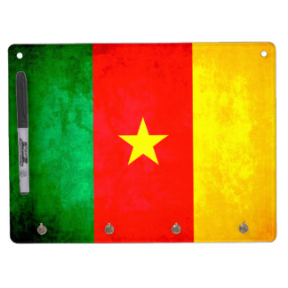 Colorful Contrast Cameroonian Flag Dry-Erase Whiteboard