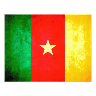 Colorful Contrast Cameroonian Flag Full Color Flyer