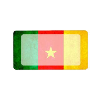 Colorful Contrast Cameroonian Flag Custom Address Label