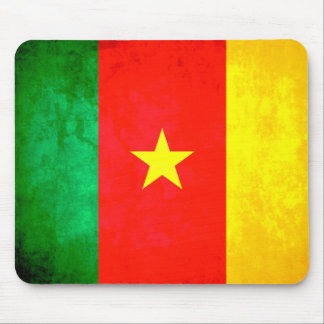 Colorful Contrast Cameroonian Flag Mousepad