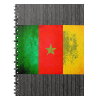 Colorful Contrast Cameroonian Flag Spiral Notebooks