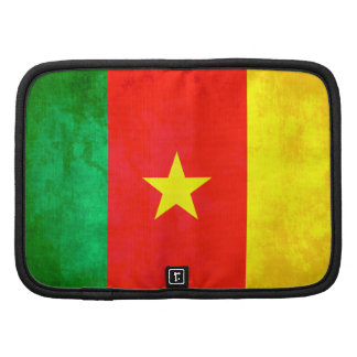 Colorful Contrast Cameroonian Flag Folio Planner