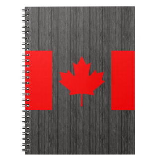 Colorful Contrast Canadian Flag Spiral Notebook