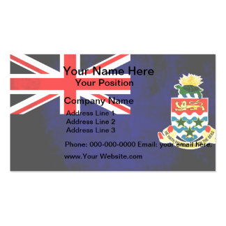 Colorful Contrast Caymanian Flag Business Card