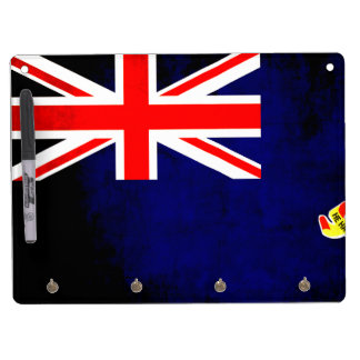 Colorful Contrast Caymanian Flag Dry Erase Board