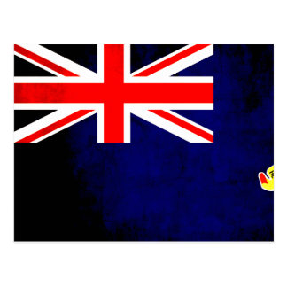 Colorful Contrast Caymanian Flag Postcard