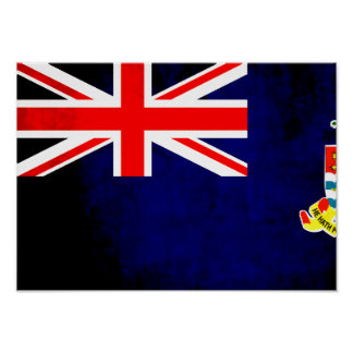 Colorful Contrast Caymanian Flag Poster