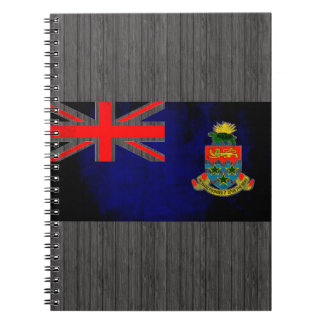 Colorful Contrast Caymanian Flag Spiral Notebook