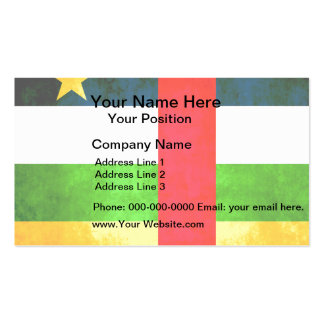 Colorful Contrast Central African Flag Business Card