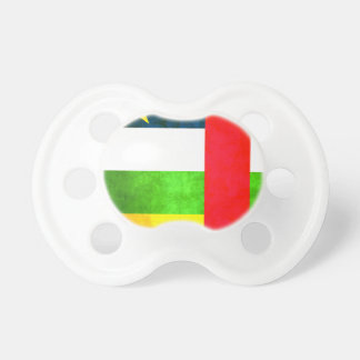 Colorful Contrast Central African Flag Pacifier