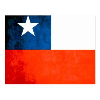 Colorful Contrast Chilean Flag Postcard
