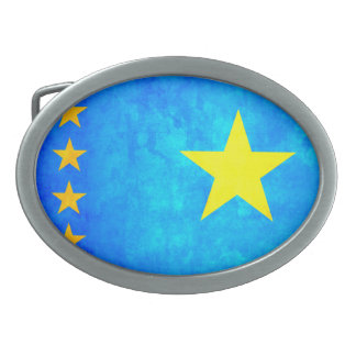 Colorful Contrast Congese Flag Belt Buckle