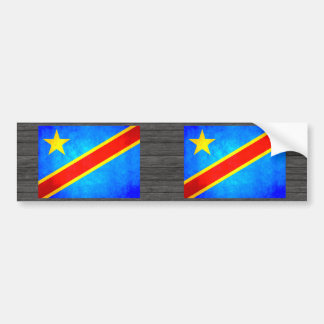 Colorful Contrast Congese Flag Bumper Sticker