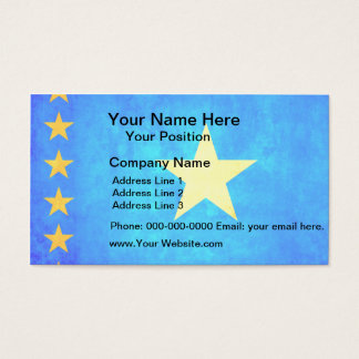 Colorful Contrast Congese Flag Business Card