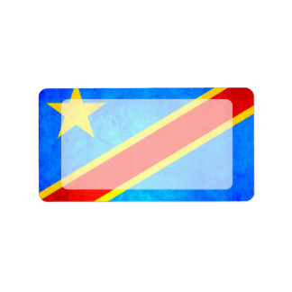 Colorful Contrast Congese Flag Label