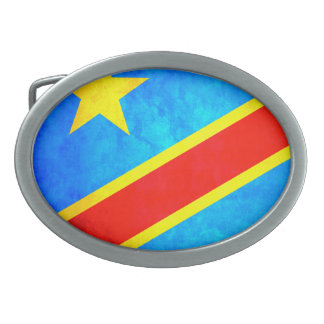 Colorful Contrast Congese Flag Oval Belt Buckles