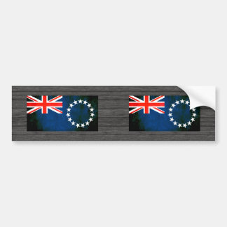 Colorful Contrast Cook Island Flag Car Bumper Sticker