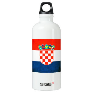 Colorful Contrast Croatian Flag Aluminum Water Bottle