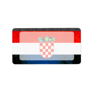Colorful Contrast Croatian Flag Label