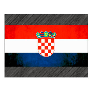 Colorful Contrast Croatian Flag Postcard